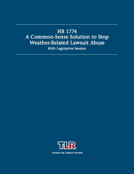 A Common-Sense Solution to Stop Weather-Related Lawsuit Abuse